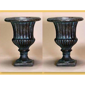 Fluted Urn Set of Two, FREE SHIPPING