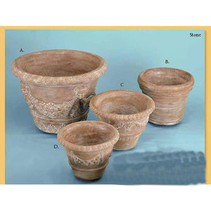 Vaso Imprunetta Set of Four, FREE SHIPPING