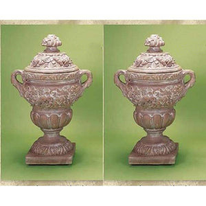 Big Flora Urn with Lid Set of Two, FREE SHIPPING