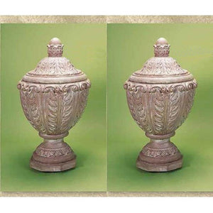 Acantha Urn with Lid Set of Two, FREE SHIPPING