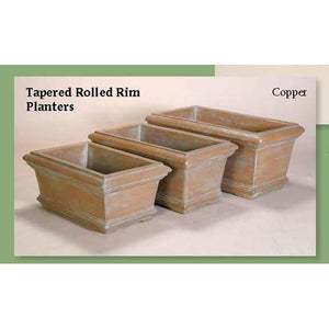 Tapered Rolled Rim Planters Set of Three, FREE SHIPPING