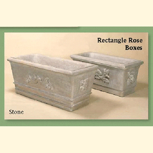 Rectangle Rose Boxes Set of Two, FREE SHIPPING