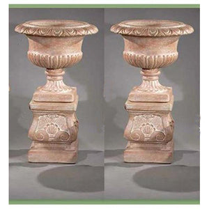 Estate Urn with Pedestal Set of Two, FREE SHIPPING