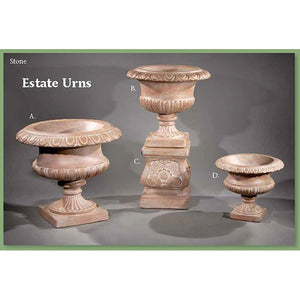 Estate Urns Set of Three, FREE SHIPPING