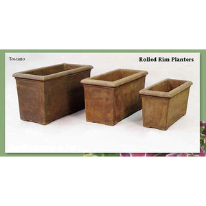 Rolled Rim Planters Set of Three, FREE SHIPPING