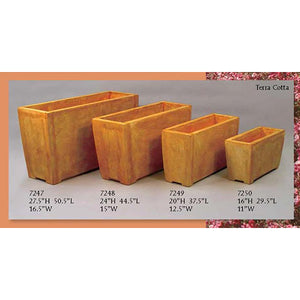 Rectangle Evelyn Planters Set of Four, FREE SHIPPING