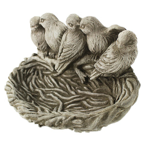 Bird Nest Feeder Concrete Wall Plaque