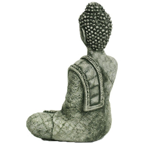 Buddha Statue with Robe, 12 inches H x 9.5 inches W x 6 inches D FREE SHIPPING