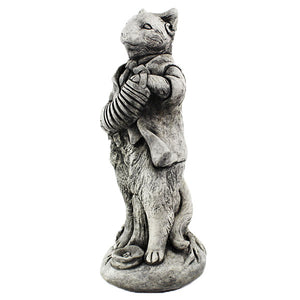 Cat with Concertina Garden Statue
