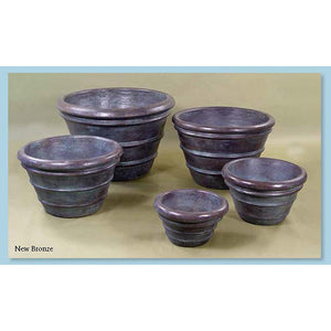 Double Rolled Rim Pots Set of Five, FREE SHIPPING