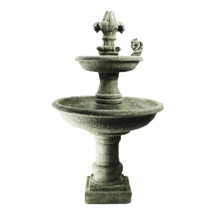 Ravello Two Tier Fountain w/fdl Gargoyle, 53 inches H x 31 inches W