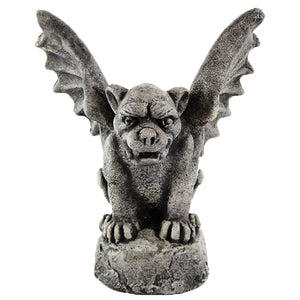 Gothic Gargoyle Statue, 11.5 inches H x 7 inches D x 9.5 inches W