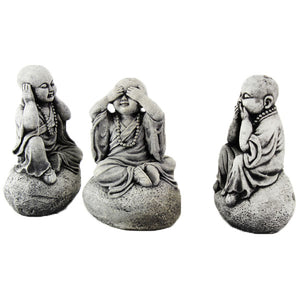 Three Monks Statues