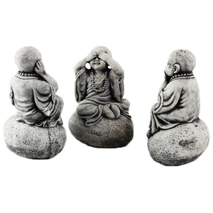 Three Wise Monks Set Garden statues