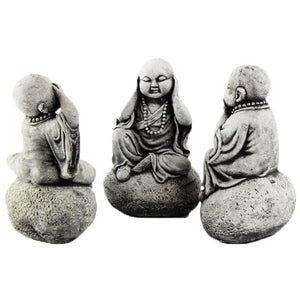 Three Wise Monks Garden Figures