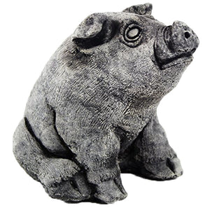 Sitting Pig Statue - Garden statuary in USA