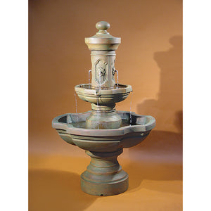 Italian Ravello Water Fountain W/Spouts, 63.5  inches H x 39.5 inches W Base: 19 Inches