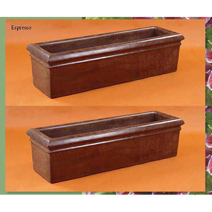 Rolled Rim Planter Set of Two, FREE SHIPPING