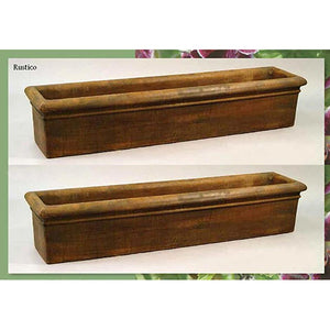Large Rolled Rim Planter Set of Two, FREE SHIPPING
