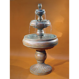 Rotunda Three Tier Water Fountain, 82 inches H x 43 inches W, Base: 28 inches