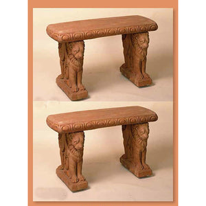 Italian Lion Benches