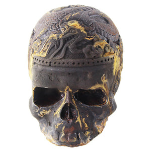 Skull with Dragon Statues decor