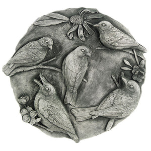 Birds Concrete Wall Garden Plaque