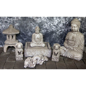 Buddha Water Fountains with Foo Dogs and Chinese Dragons Statues
