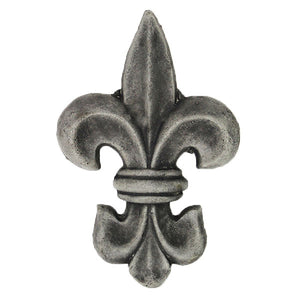 Fleur de Lis Small Concrete Wall Plaque - Garden statuary in USA