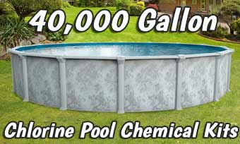 Chlorine Pool Opening Kits - 40,000 Gallons