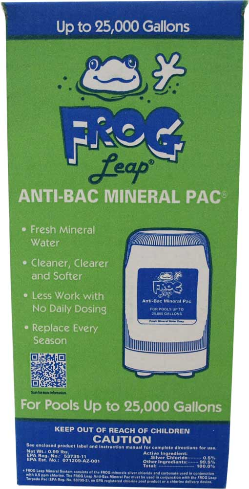 Frog Pool - Anti Pac Minearl Pac up to 25,000 gallons 1 Cartridge