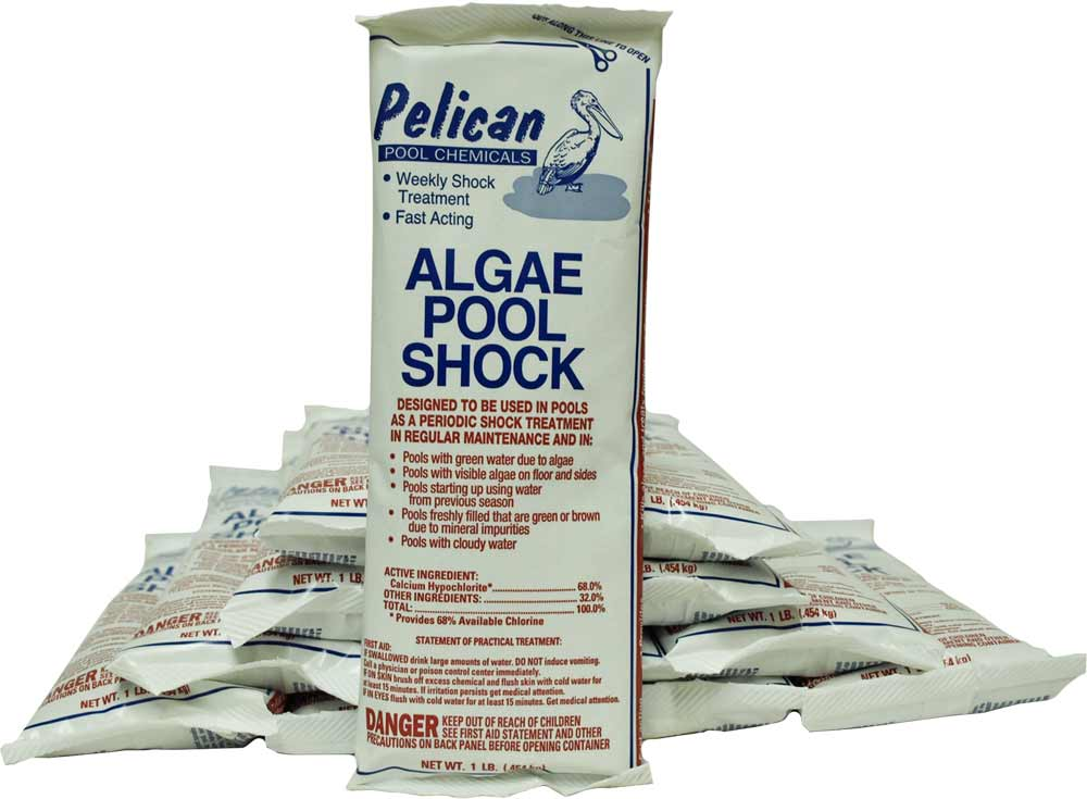 Algae Pool Shock 12 - 1lb Bags