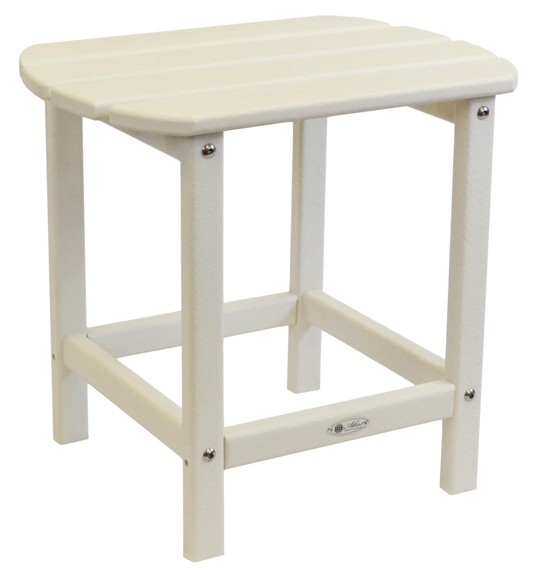 Atlas Patio Furniture - Beach Haven Poly End Table - Color: White