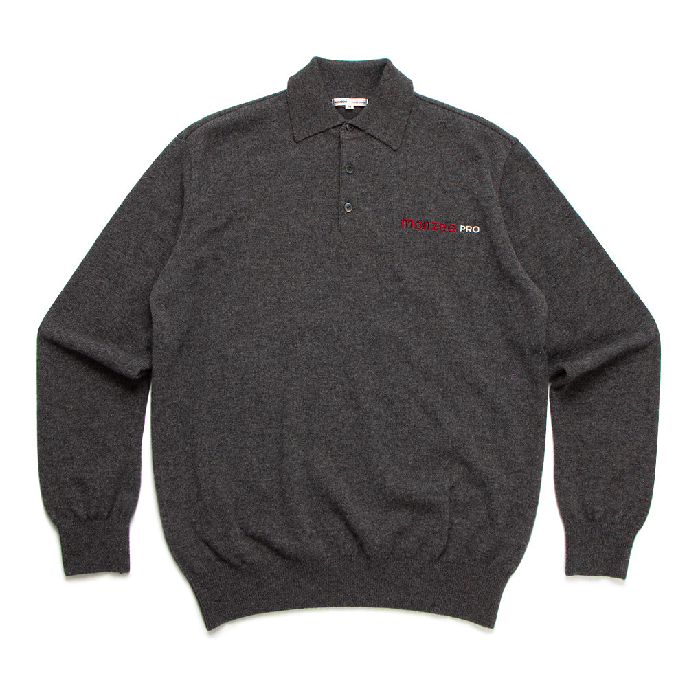 100% Cashmere Polo Grey