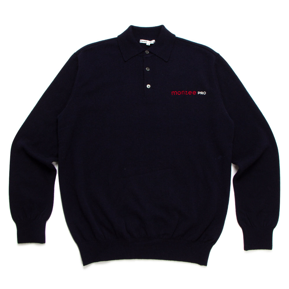 【happy price】100% Cashmere Polo Navy