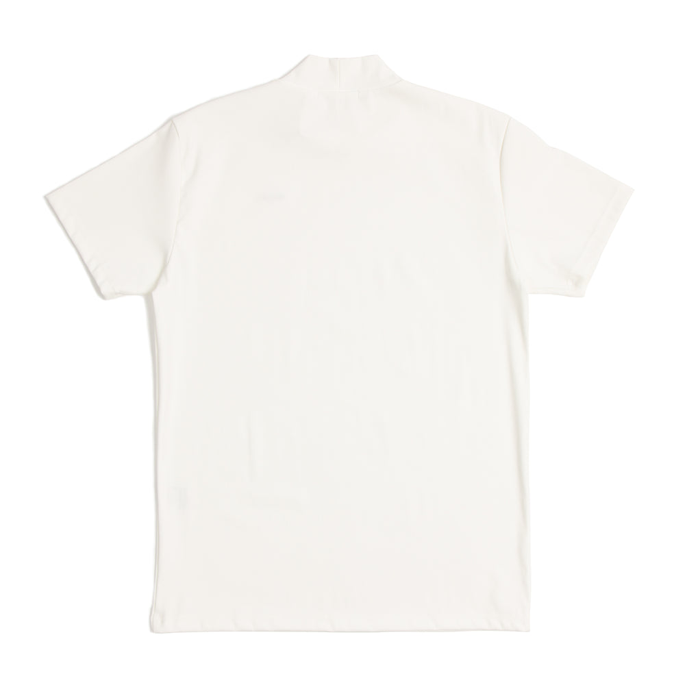 White mock-neck