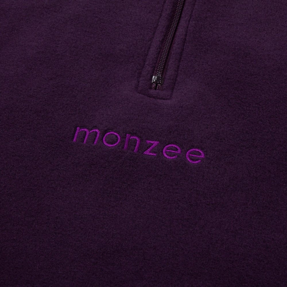 Half Zip Fleece Purple1