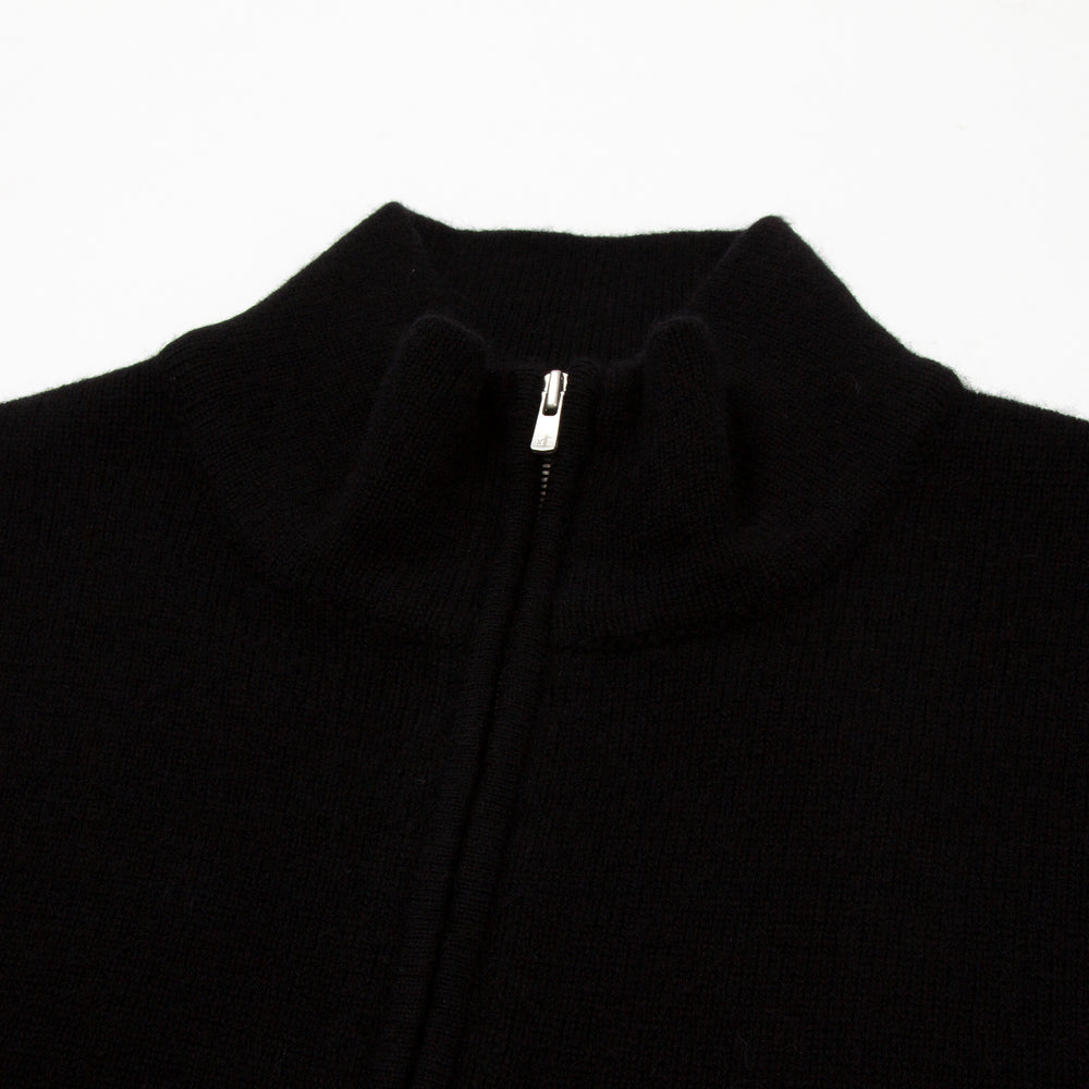 Cashmere Mix Half-Zip Black