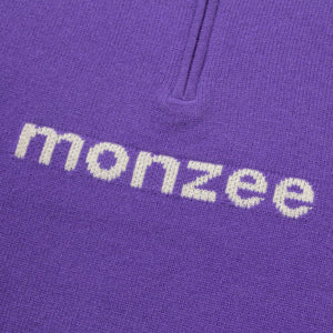 Cashmere Half-Zip Purple