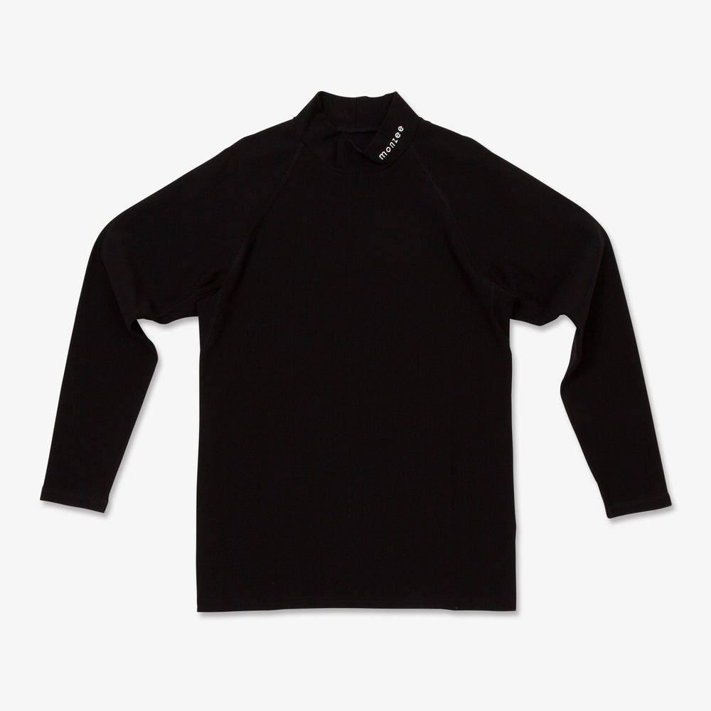 Mock Neck Long Sleeve-BLK