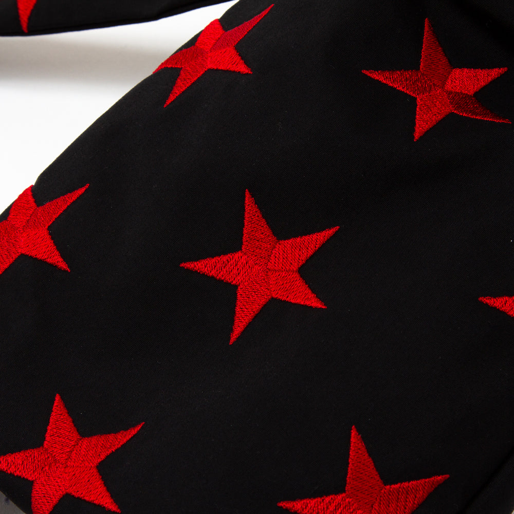 Embroidery Star -  Black x Red