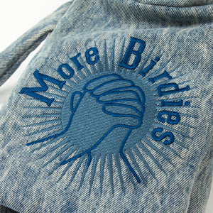 More Birdies-Blue Denim