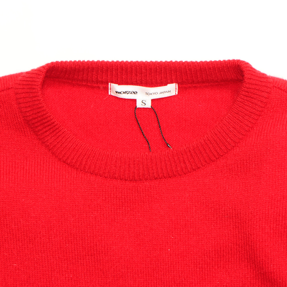 100% Cashmere Panel Sweater Red