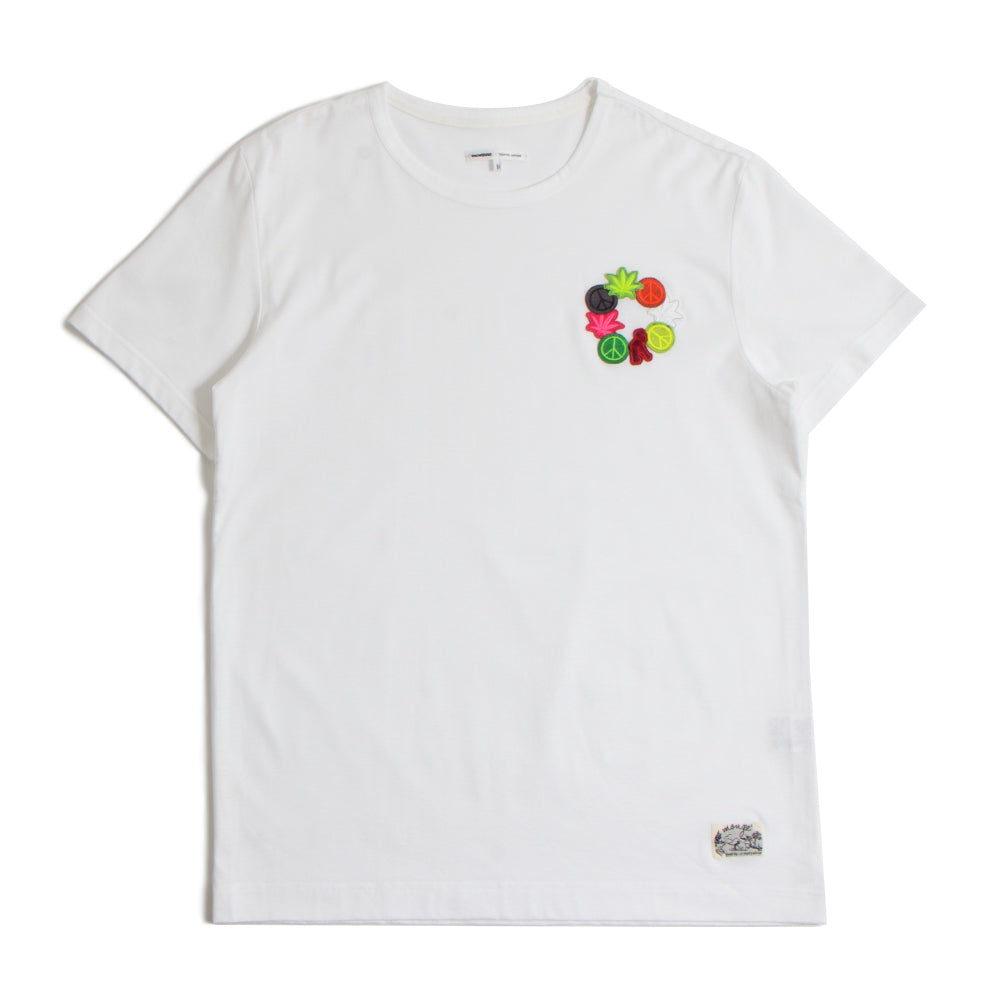 Crew Neck Cotton-Jersey T-Shirt White