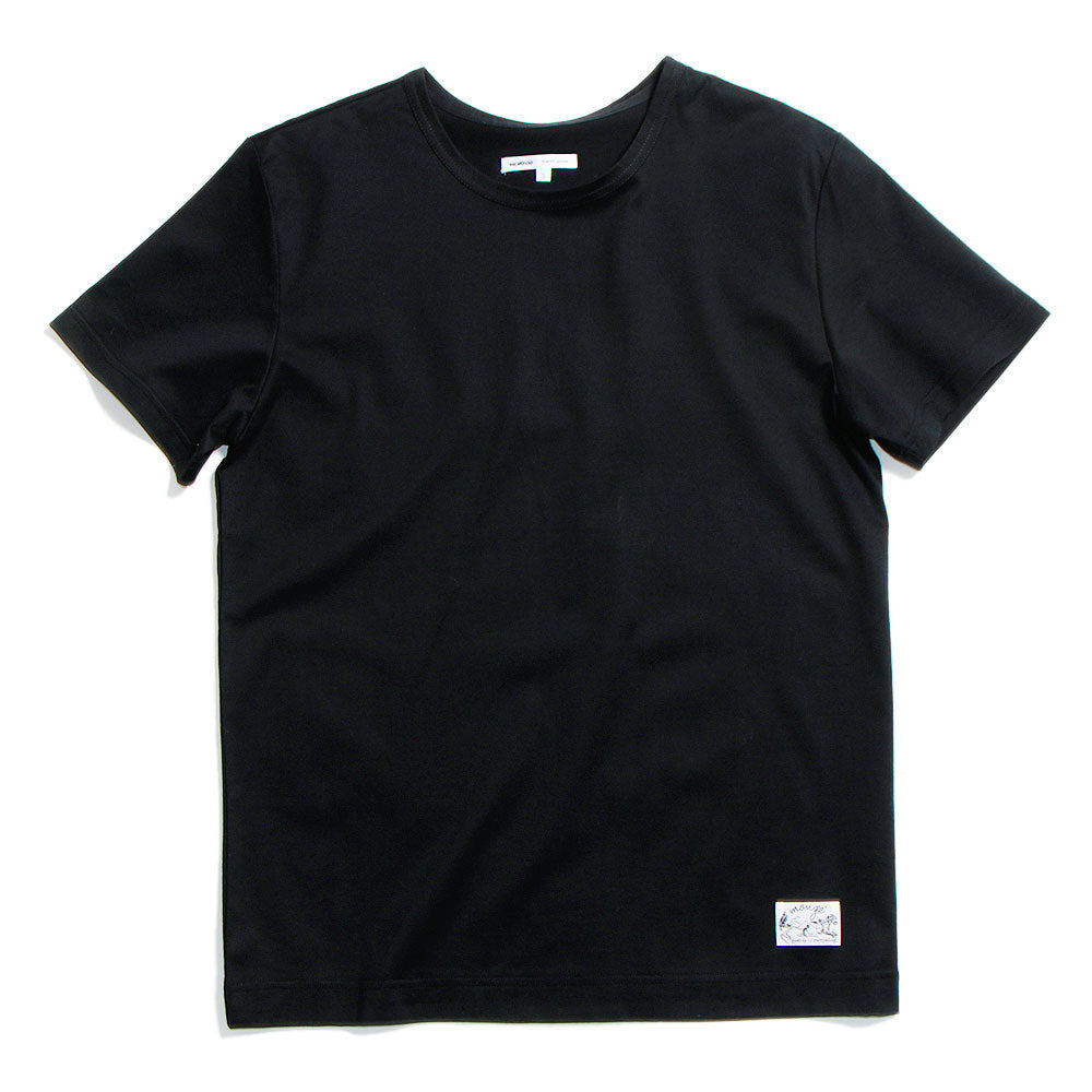 Crew Neck Cotton-Jersey T-Shirt Black (20%OFF)