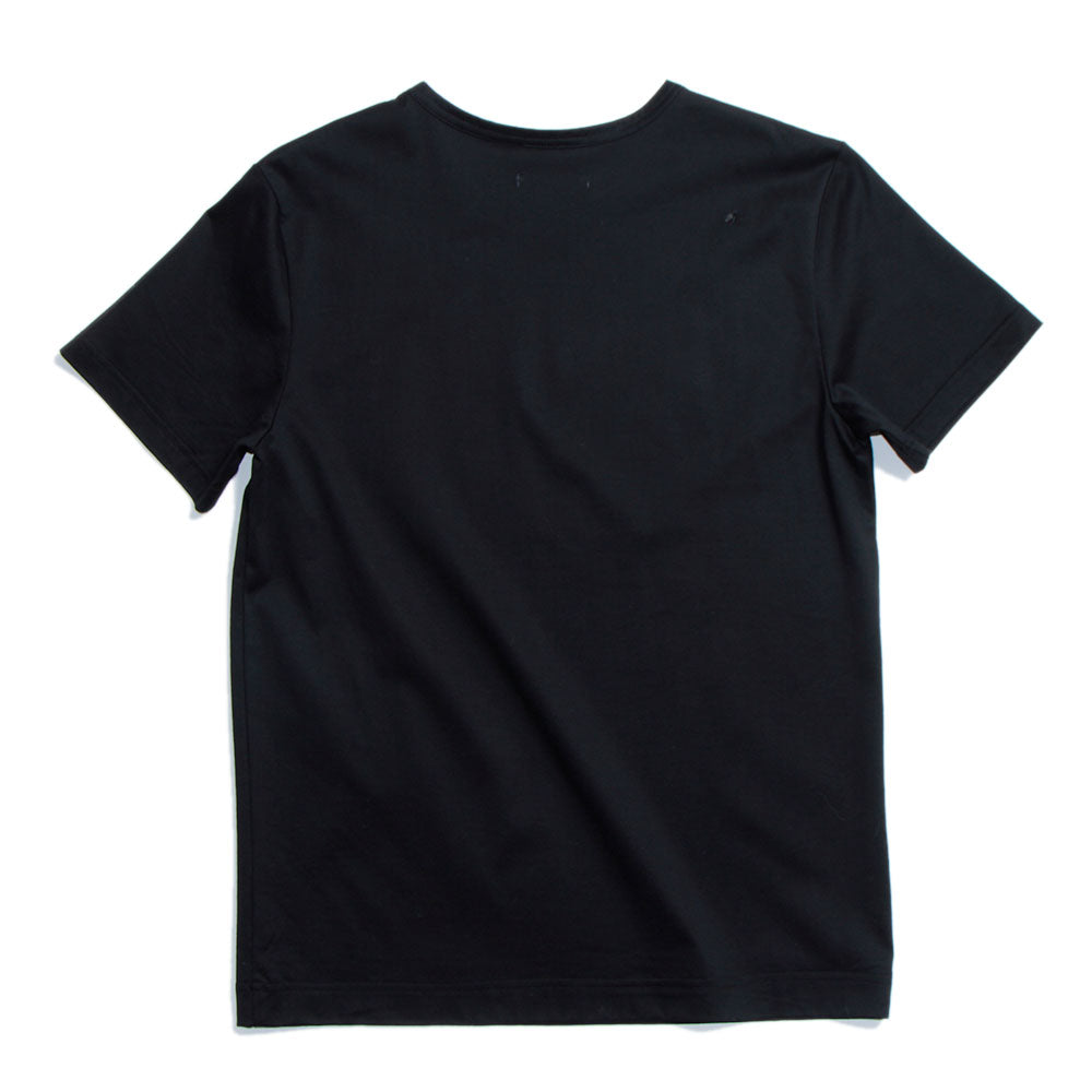Crew Neck Cotton-Jersey T-Shirt Black(30%off)