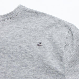 Crew Neck Cotton-Jersey T-Shirt Gray【Lのみ】(30%off)