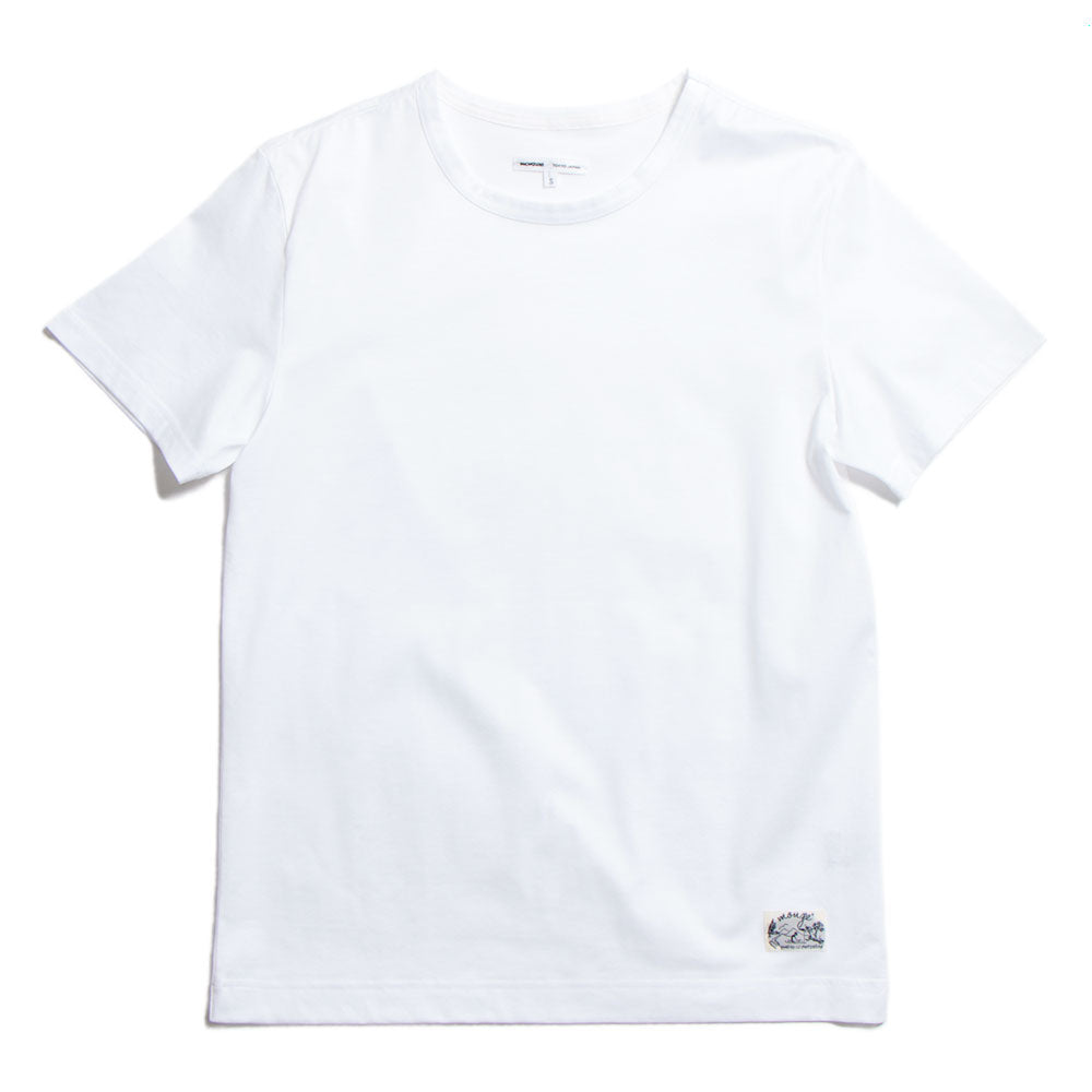 Crew Neck Cotton-Jersey T-Shirt White (20%OFF)