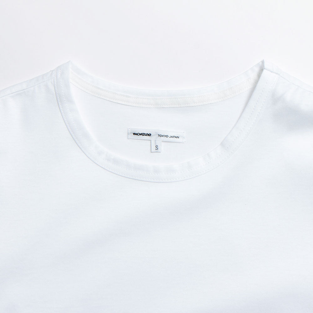 Crew Neck Cotton-Jersey T-Shirt White(30%off)