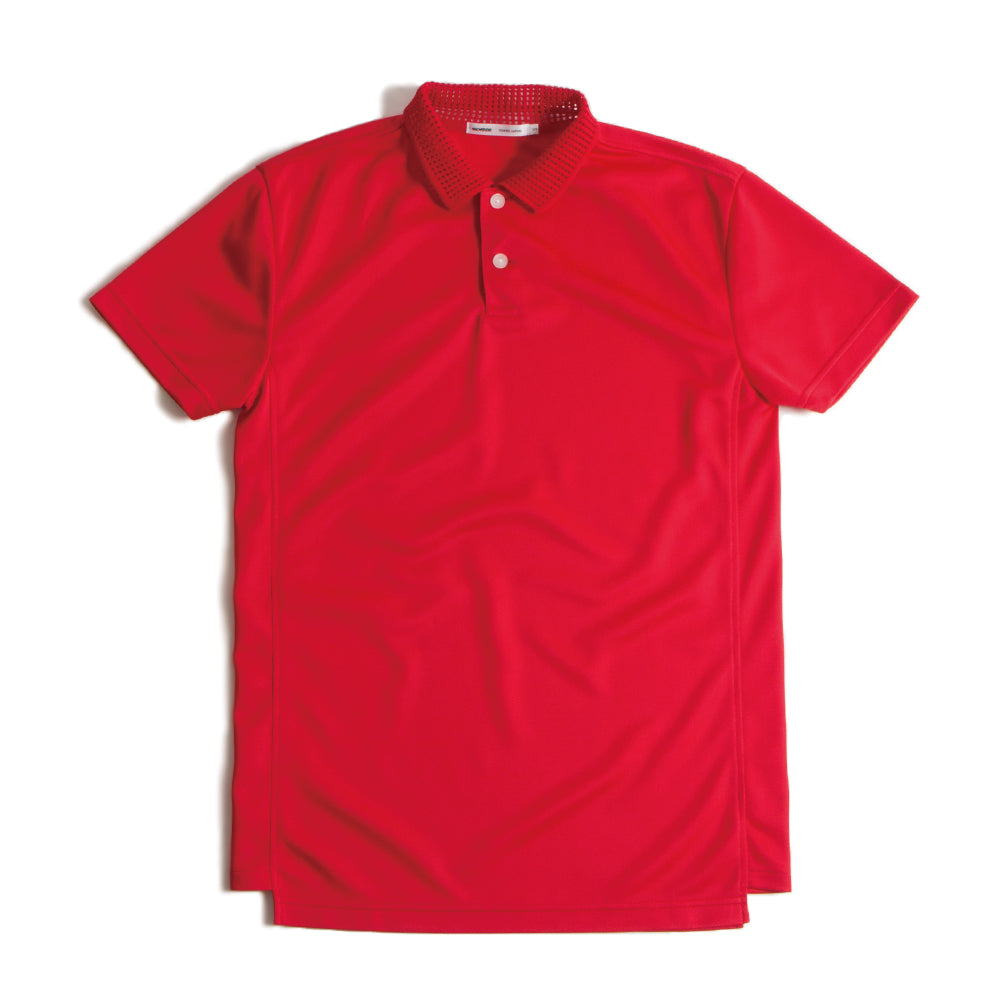 Mesh Collar Polo Red【Lのみ】(30%off)